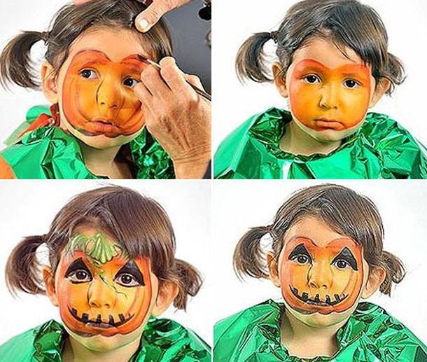 Раскрасить лицо на хэллоуин ребенку